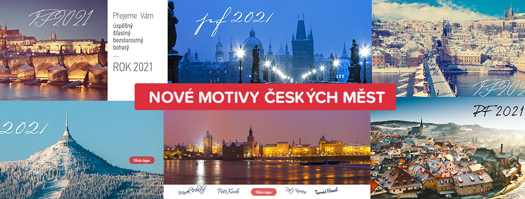 Krásné momentky z českých měst zdobí novoročenky