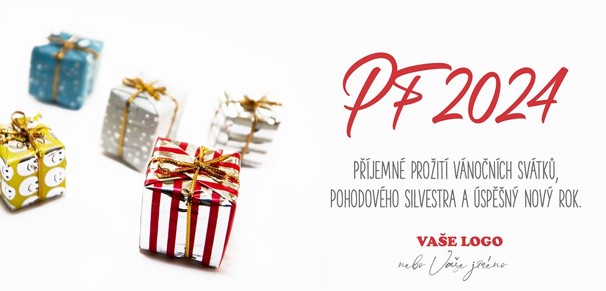 Nádherně zabalené dárečky jen podpoří srdečnost novoročního přání.