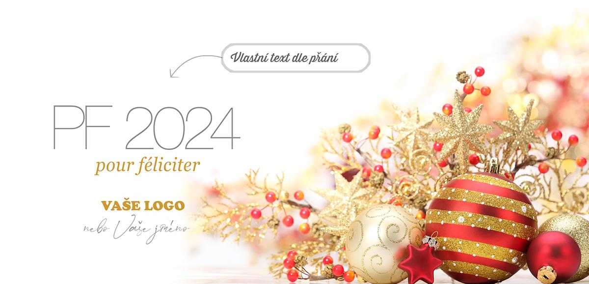 Nádherné zlatočervené vánoční ozdoby a dekorace posilují kouzlo okamžiku i na novoročence.