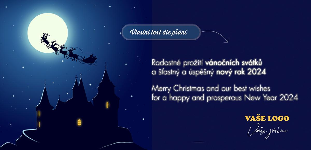 Obrys Santy jedoucího po obloze za svitu měsíce nás v novoročence vrací k pohádkám, které ke svátkům prostě patří.