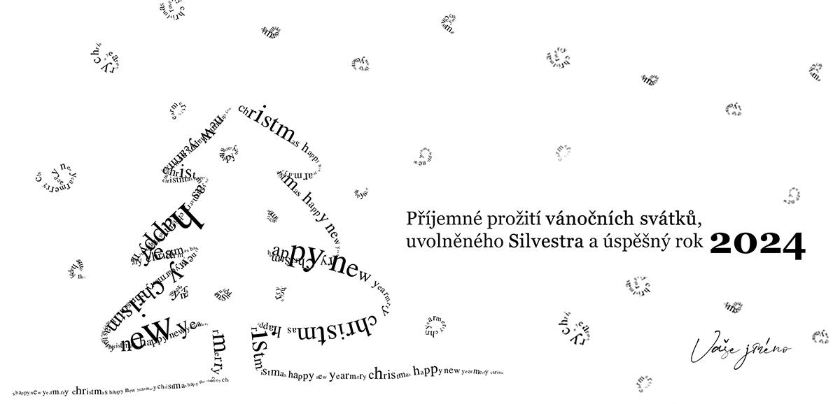 Novoročenka 117 - Typografický vánoční stromek