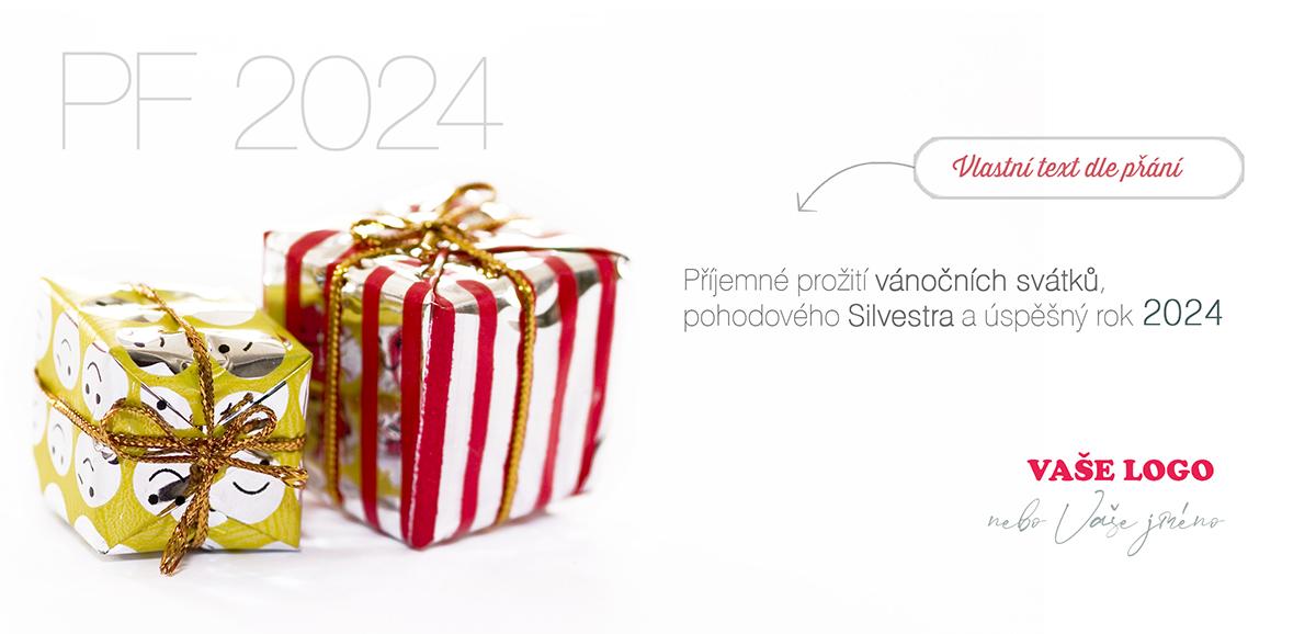 Krásně zabalené hned dva vánoční dárečky budou jistě milým překvapením na letošním vánočním přání.