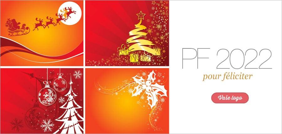Sobí spřežení, vánoční stromeček i pohádkové tři oříšky mají své kouzlo vždy i na oranžovém pozadí.