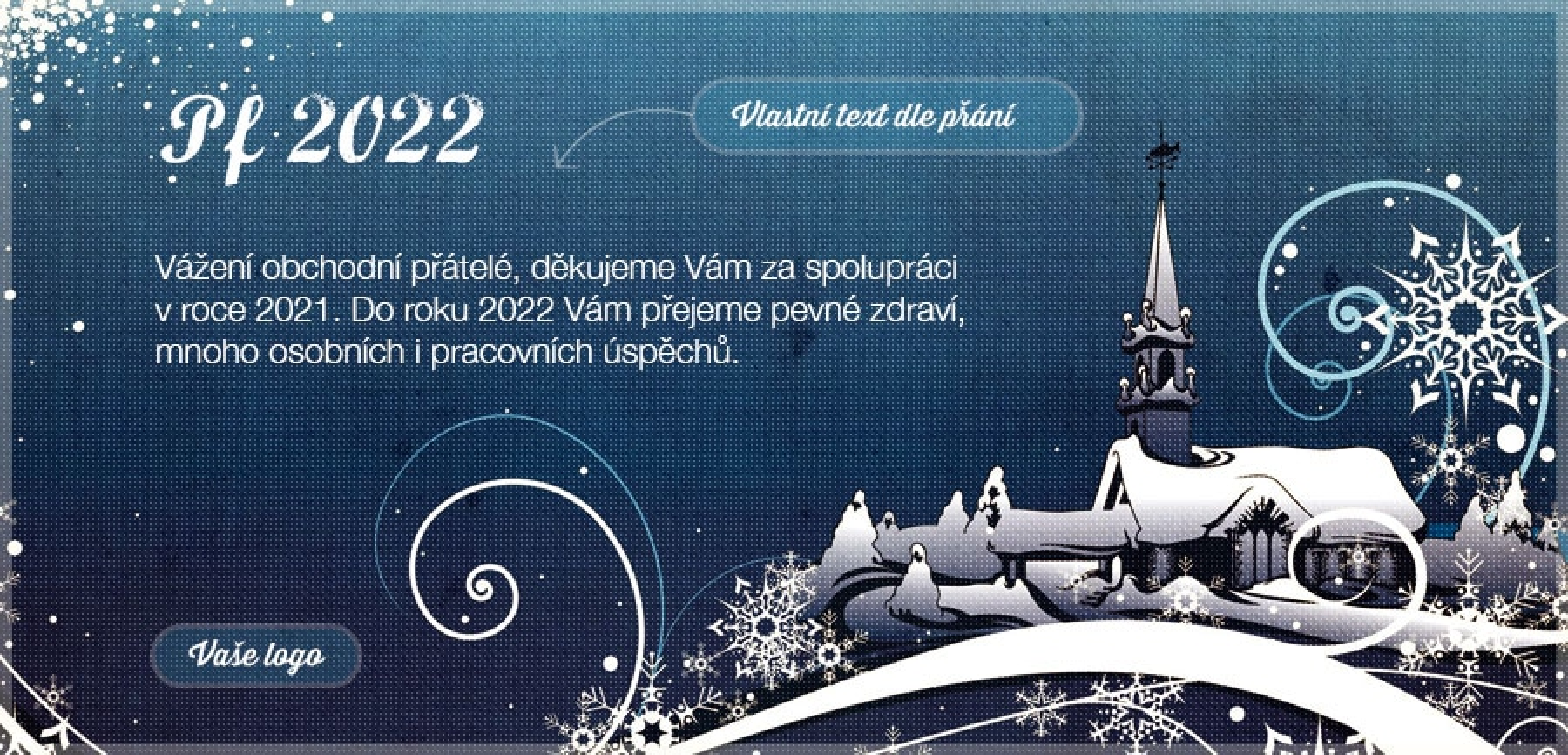 Novoročenka 198 - Retro vánoční vesnička