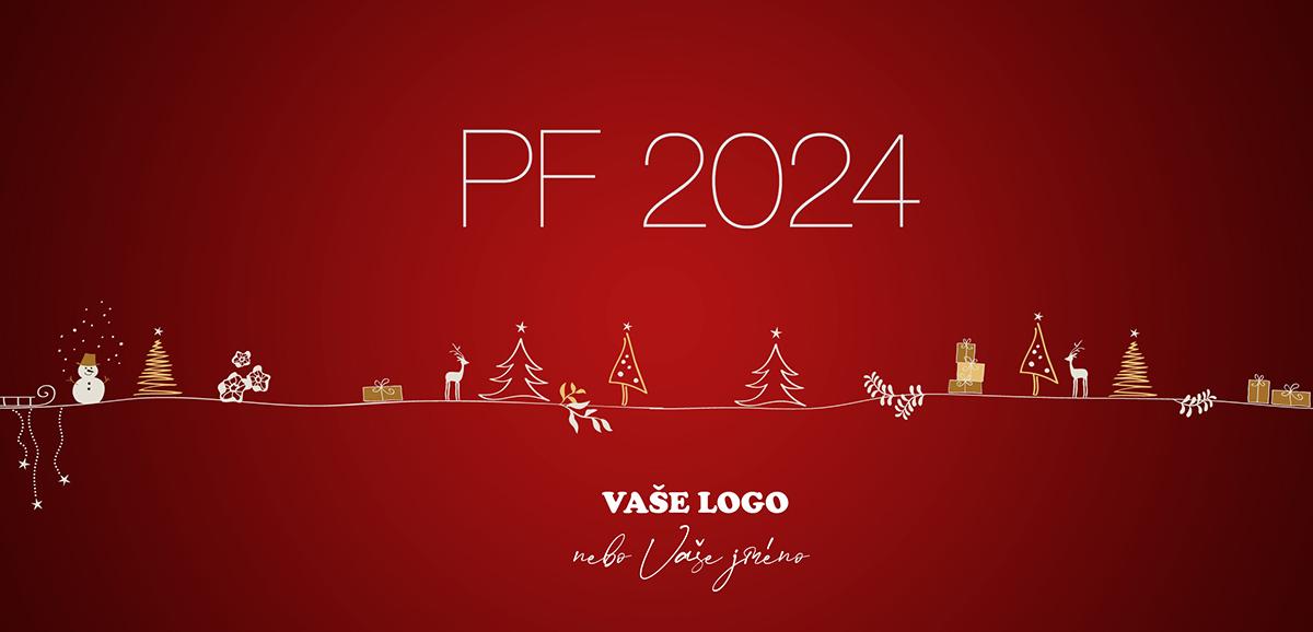 Roztomilé novoroční přání s dětsky kreslenými vánočními a zimními motivy.