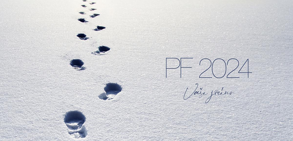 Stopy ve sněhu na firemní novoročence ukazují nejkratší správnou cestu k úspěchu.