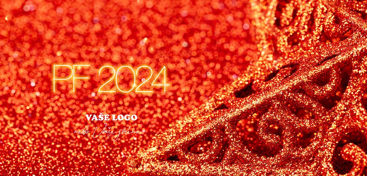 Vánoční zátiší s detailem na část ozdoby třpytivě bronzové vánoční hvězdy v oranžově perleťovém pozadí.