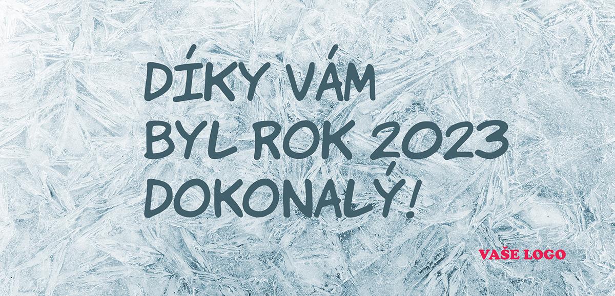 Originální firemní novoroční přání napsané na zamrzlé sklo, má něco do sebe.