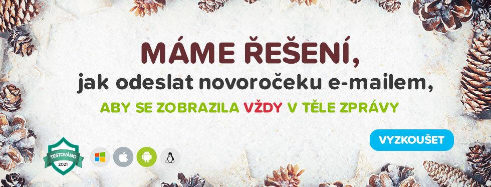 enovorocenky.cz - banner řešení elektronických novoročenek