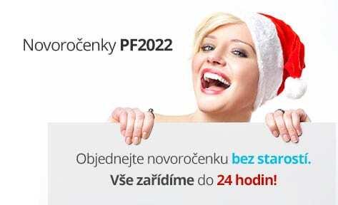 Novoročenky PF2022 - veselá paní